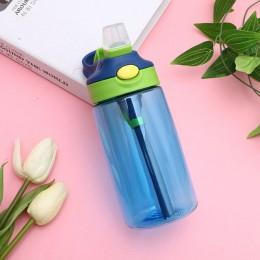 1PC 480ml dzieci szkoła wody pitnej butelka z rurką słomy Sippy szczelne butelki na wodę odkryty przenośny puchar sportowy dla d