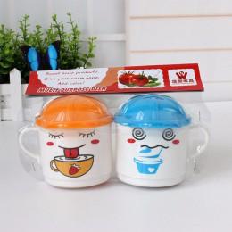 Cartoon Kids Child plastikowe kubki na wodę do picia kształt kapelusza kubek kuchenka mikrofalowa użyj koloru losowo
