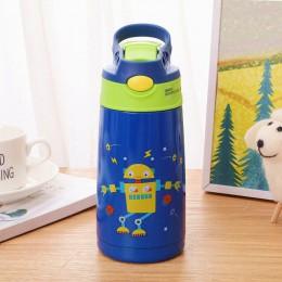 400ml kubek termiczny ze stali nierdzewnej dla dzieci ze słomką Cartoon szczelny termos butelka termiczna dla dzieci Thermocup