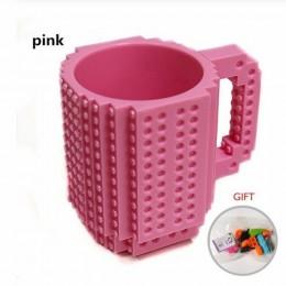 DIY kreatywny kubek kubek podróżny 350ml Lego kubek napój kubek do mieszania zestaw obiadowy dla dziecka dzieci dorosłych sztućc