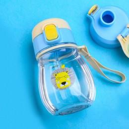 Plastikowy pojemnik do picia dla dzieci dziewczynki chłopca ze słomką przezroczysty różowy niebieski
