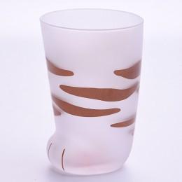 350ml kubek żaroodporne szkło kot puchar tygrys łapy biuro matowy kot łapy kreatywny filiżanka na mleko i kawę słodkie dzieci bu