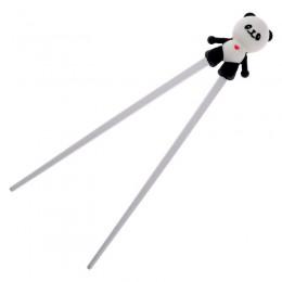 1 para silikonowy śliczny rysunek przedstawiający pandę pomocnik Chopstick dzieci dziecko uczeń szkolenia zastawa stołowa chińsk