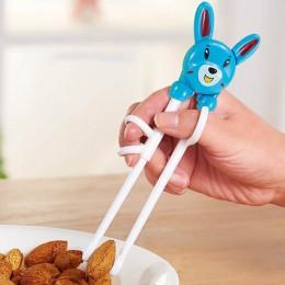 Pomocnik szkoleniowy dla dzieci Cartoon przenośne sztućce dla dzieci pałeczki do nauki plastikowe pałeczki oświecające dla dziec