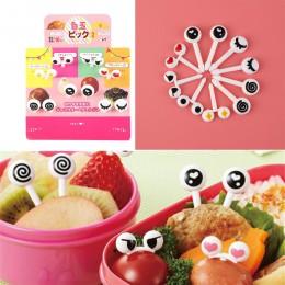 Wielokrotnego użytku oko Farm widelec do owoców Mini Cartoon dzieci przekąska deser ciasto jedzenie owoce Pick wykałaczka lunche