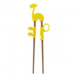 1 para śliczne dzieci pałeczki dzieci dziecko początkujący praktyczne pałeczki drewniane kreskówki nauka wielokrotnego użytku pa