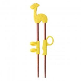 2 pary pałeczki dla dzieci ze stali nierdzewnej nauka pałeczki do jedzenia wielokrotnego użytku szkolenia pałeczki do jedzenia C