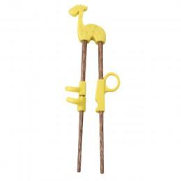 Śliczne dzieci pałeczki dla dzieci dziecko drewniane kreskówki nauka słomka wielokrotnego użytku pałeczki treningowe dom produkt