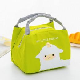 Przenośny izolowany termiczny piknik na żywność torba na Lunch Box torby kartonowe etui dla kobiet dziewczyna dzieci dzieci