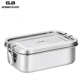 Nowe pudełko na lunch 304 najwyższej jakości stal nierdzewna silikonowa pieczątka pierścień szczelny pojemnik bento 800ml pojemn
