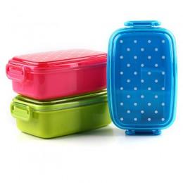 Dot pudełko na lunch dla dzieci piknik szkolny pojemnik do przechowywania żywności Bento pudełko do sushi dzieci owoce przekąski