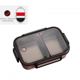 WORTHBUY japońskie pudełko na lunch z przedziałem 304 ze stali nierdzewnej pojemnik bento dla dzieci szkolny pojemnik na żywność