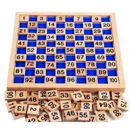 Montessori drewniane zabawki edukacyjne dla dzieci zabawki dla dzieci 1-100 stół cyfrowy matematyka nauczanie dla dzieci
