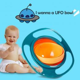 Sztućce dla dzieci Non Spill Bowl naczynia z zabawkami uniwersalne 360 Rotate unikaj rozlewania żywności przekąski Baby Shower D