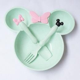 3 sztuk/zestaw przechowywanie żywności dla dzieci pszenica słoma zastawa stołowa stałe słodkie danie Kid płyta miska ekologiczne