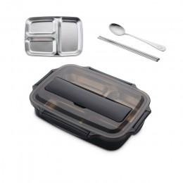 Pudełko na lunch ze stali nierdzewnej 304 z łyżeczką szczelne pudełka obiadowe typu bento zestaw obiadowy mikrofalówka dla doros