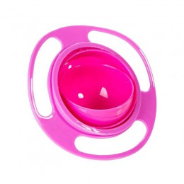 Sztućce dla dzieci Non Spill Bowl naczynia z zabawkami uniwersalne 360 Rotate unikaj rozlewania żywności przekąski dla niemowląt