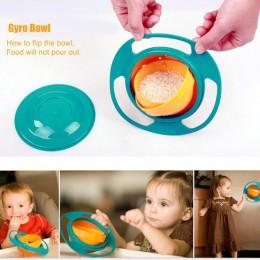 Uniwersalny 360 obrót odporny na zalanie miski naczynia wysokiej jakości dzieci Kid zabawka dla dziecka naczynia stałe karmienie
