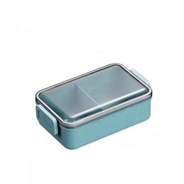 Pudełko Bento do kuchenki mikrofalowej pszenicy słomy dziecko Lunch Box japoński naczynia stołowe szczelny Bento Lunch Box dla d