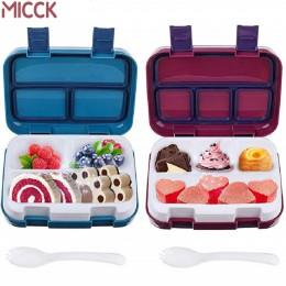 MICCK pudełko na lunch dla dzieci pojemnik na jedzenie owoców kuchenka mikrofalowa przenośny przedział szkolny szczelny pojemnik