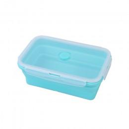 Przenośny silikonowy pojemnik na drugie śniadanie składany chowany do przechowywania naczynia podgrzewany pojemnik na jedzenie s