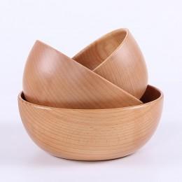 Japońska drewniana misa rodzina dzieci miska do ryżu miska na zupę z litego drewna zastawa stołowa zupa salade saladier miska ow