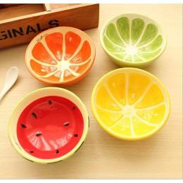 1PC śliczne miski piękne ręcznie malowane miska na owoce dla dzieci arbuz miseczka ceramiczna kreskówka zastawa stołowa sztućce