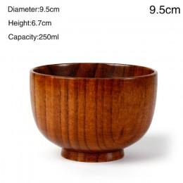 1PC naturalna jujuba drewniana okrągła Sala miska ręcznie kuchenna miseczka bambusowa dzieci Kid owocowa miska zupy ryżu zastawa
