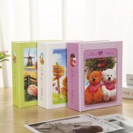 1 szt. 100 arkuszy obrazki z motywem kreskówkowym ramka albumu zdjęcie ślubne dzieci książka pamiątkowa dziecko prezent Album pr