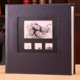 Album ze zdjęciami skórzana okładka 6 Cal Foto plastikowa 6 Cal 600 kieszeń duża pojemność skórzana rodzina dzieci dziecko wzros