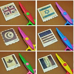 6 sztuk/partia dzieci dzieci nożyczki do papieru papieru 6 wzory cięcia zakrzywione krawędzie DIY dekoracyjne podnośniki do albu