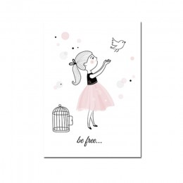 Plakat pokoju dziecięcego różowy królik dzieci plakat Baby Girl Room Decor obraz ścienny na płótnie grafiki do pokoju dziecięceg