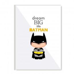 Cartoon Batman superbohater przedszkole ścienne płótno artystyczne plakat i druki malarstwo obraz nowoczesna dekoracja do pokoju