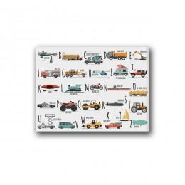 Płótna dekoracyjne do domu malowanie Hd zdjęcia ściany artystyczny nadruk alfabet samochodowy styl skandynawski prosty modułowy