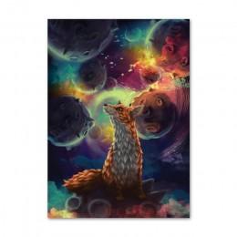 Drukowana grafika ścienna obraz na płótnie mały książę Rose Fox Alien modułowe zdjęcia skandynawskie plakaty dekoracja wnętrz po