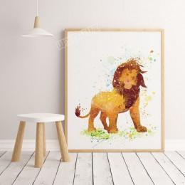 2019 akwarela film król lew plakat cartoon dekoracja pokoju dzieci dekoracja Home Decor malarstwo na płótnie malarstwo  K293
