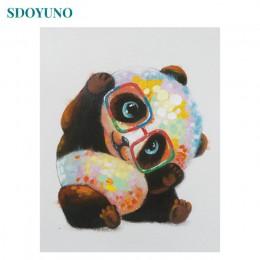 SDOYUNO farba według numerów Panda matka i dziecko dekoracja pokoju Wall Art DIY prezent na płótnie malowanie ramki malowanie nu