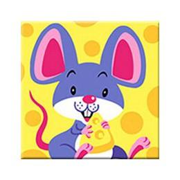 RUOPOTY ramka zwierzęta ręcznie malowany obrazek według numerów zestaw dzieci obraz farba według numerów ręcznie malowany unikal
