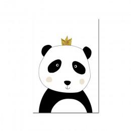 Dziecko manifest dzieci reguła obraz dziecko plakat ozdobny na ścianę do przedszkola czarny biały Panda druk na płótnie rysunki