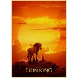 2019 film król lew plakat Vinatge drukowany obraz dekoracja pokoju dziecięcego salon naklejki ścienne papier pakowy modna dekora