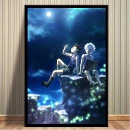 Płótna dekoracyjne do domu modułowa grafika ścienna Hunter X Hunter obraz anime Nordic drukowany motyw plakat do pokoju dziecięc