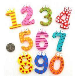 Cartoon edukacyjne zabawki cyfrowe lodówka 10 sztuk/partia numery naklejki kreatywne drewniane dziecięce zabawki do wczesnej edu