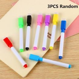 1 szt. Przezroczysta sucha szczotka worek może być ponownie użyty z PVC PET pisanie sucha torba do wycierania rysunek zabawka dl