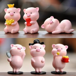 BAIUFOR zwierząt miniatury piękny Cartoon świnia bajki ogród mikro Moss krajobraz DIY figurki do terrarium dzieci zabawki prezen