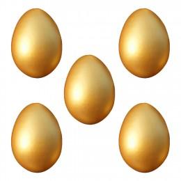 Drewniane wielkanoc złota jaj 5 Pcs dzieci kuchnia gry żywności Toy Party Favor obraz DIY Easter Egg złoty