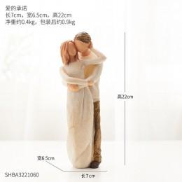 Styl skandynawski miłość rodzina figurki żywica miniatura mama tata i domowe dekoracje dla dzieci akcesoria szczęśliwy czas