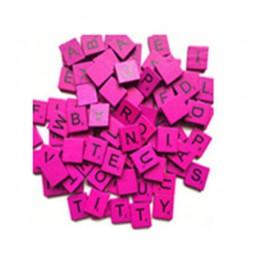 100 sztuk figurki miniaturowe 26 angielskie litery wyroby do dekoracji domu dzieci pudełko do gry kolorowe płytki scrabble ogród