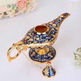 Wysokiej jakości Aladdin magiczna lampa bajka magiczna lampa s dzbanek na herbatę Genie lampa Vintage zabawki dekoracji wnętrz d