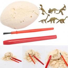 DIY jajo dinozaura/kopanie skamieniałości wykopu zabawki zestaw archeologia edukacyjne dla dzieci Model statua ornament rzemieśl