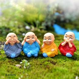 Osobowość ozdoby prezent chiński feng shui bogactwo Bonsai ogród żywica mnisi miniaturowe akcesoria meble ozdobne dziecko dzieci